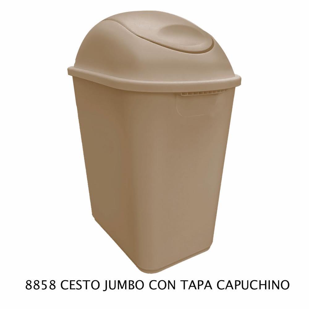Bote de basura Jumbo color capuchino modelo 8858 de Sablón