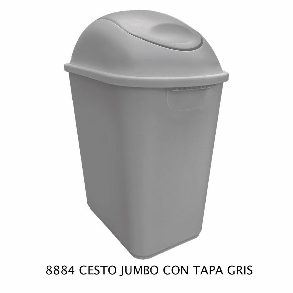 Bote de basura Jumbo color gris modelo 8884 de Sablón