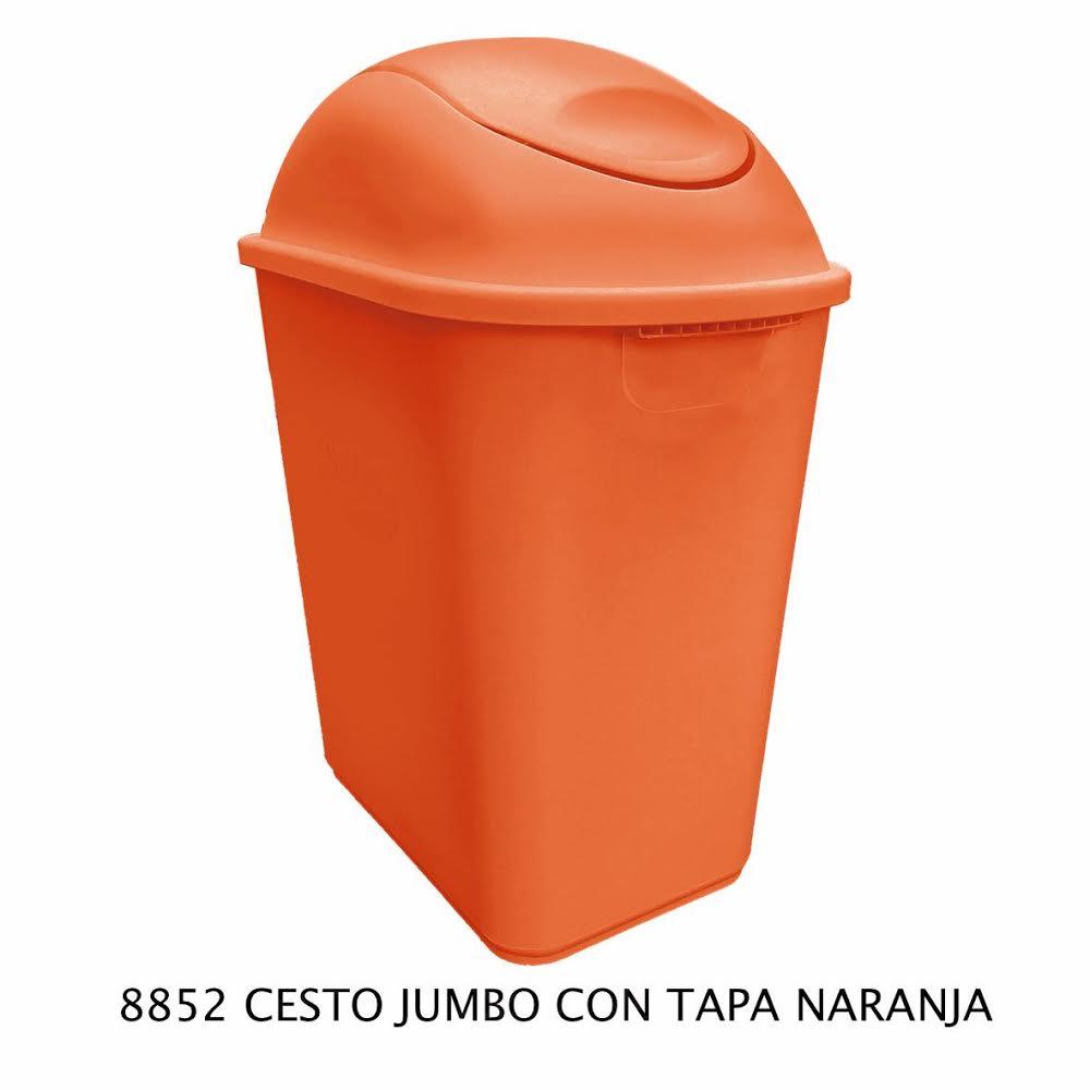 Bote de basura Jumbo color naranja modelo 8852 de Sablón