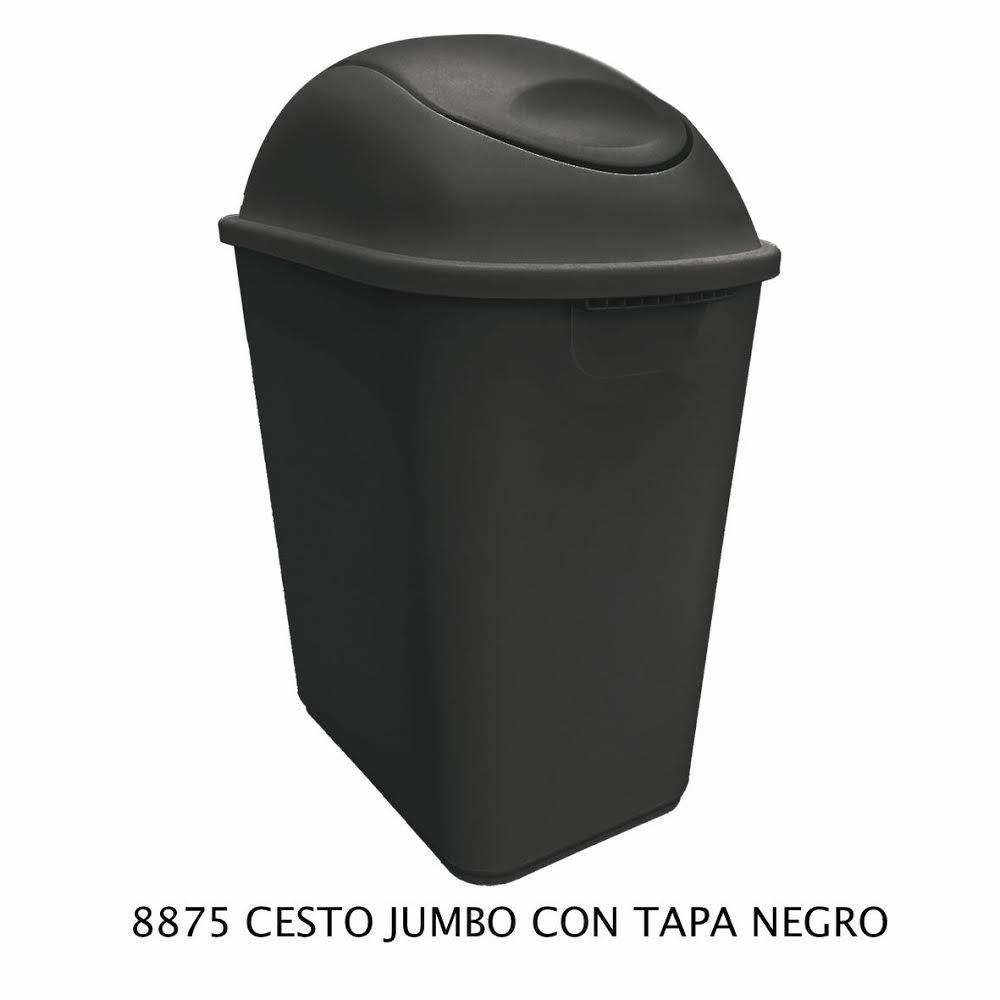 Bote de basura Jumbo color negro modelo 8875 de Sablón