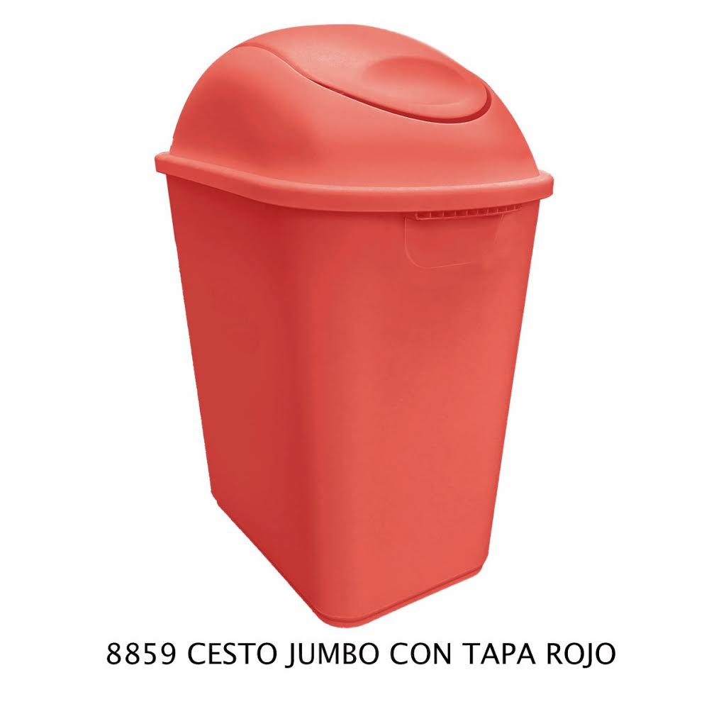 Bote de basura Jumbo color rojo modelo 8859 de Sablón