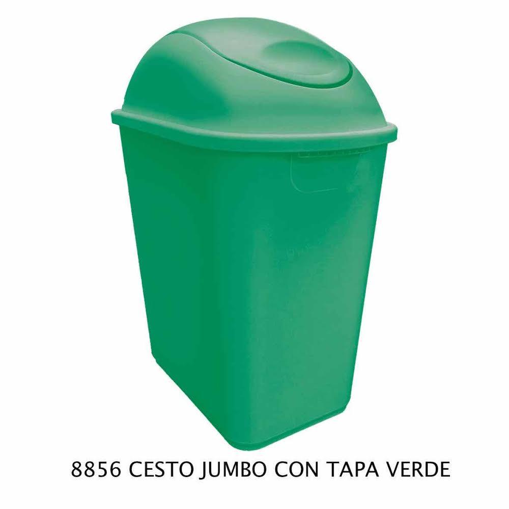 Bote de basura Jumbo color verde modelo 8856 de Sablón