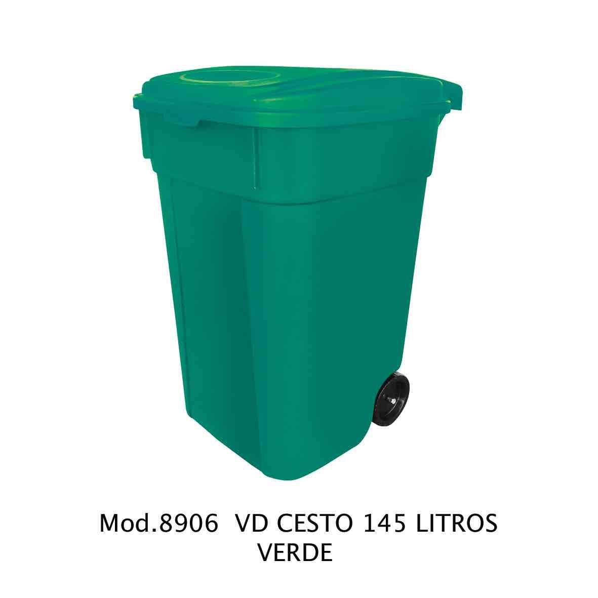 Contenedor de 145 litros verde - modelo 8906 VD - Sablón