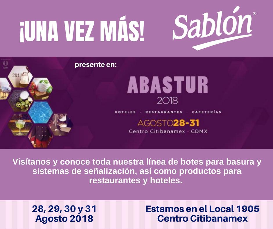 En Sablón estamos listos para recibirte en Abastur 2018