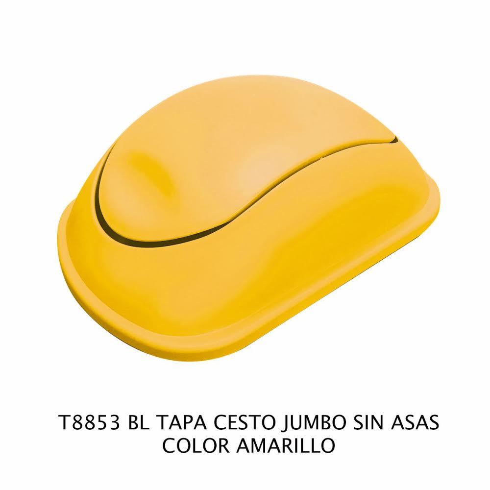 Tapa bote de basura jumbo sin asas color amarillo modelo T 8853 AM de Sablón
