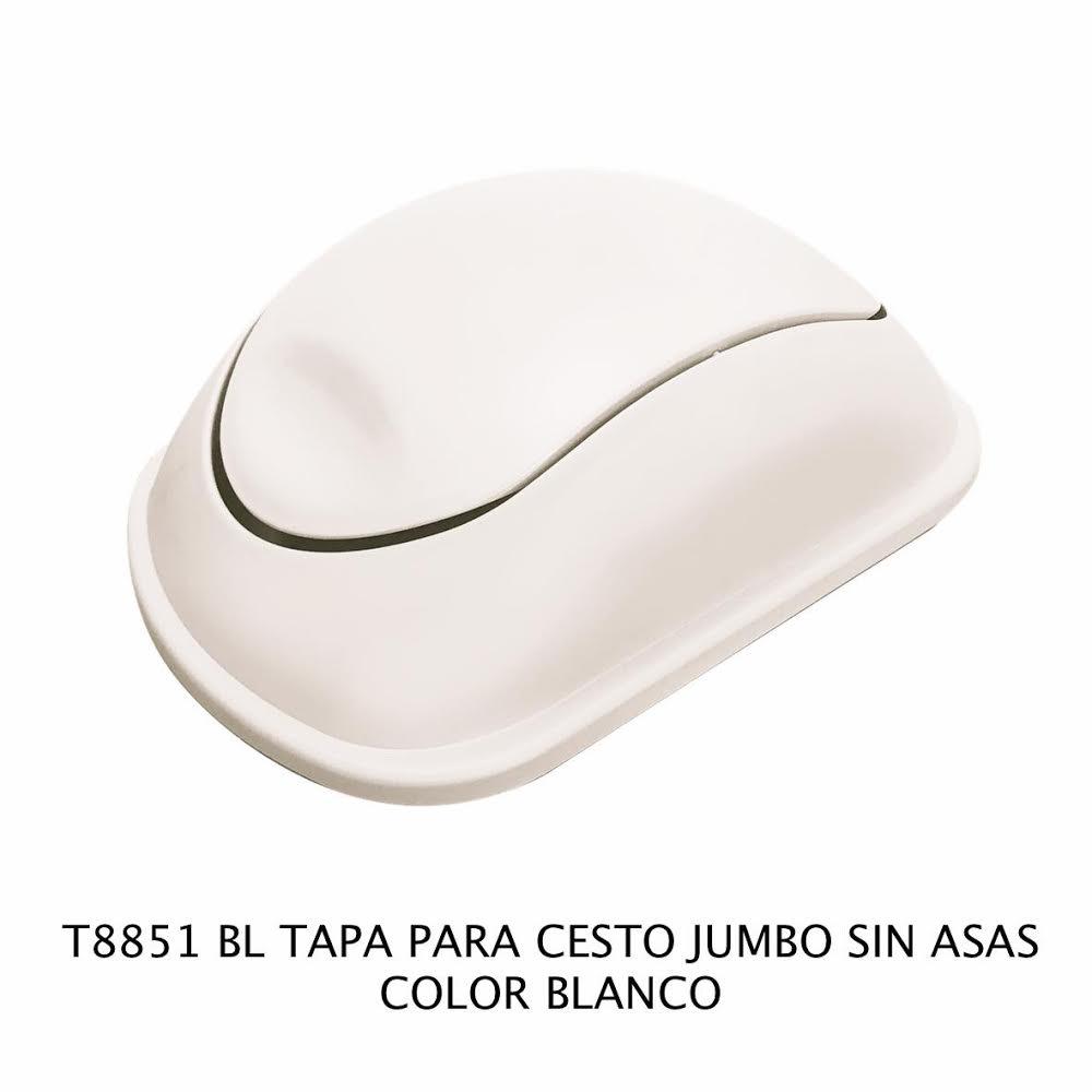 Tapa bote de basura jumbo sin asas color blanco modelo T 8851 BL de Sablón