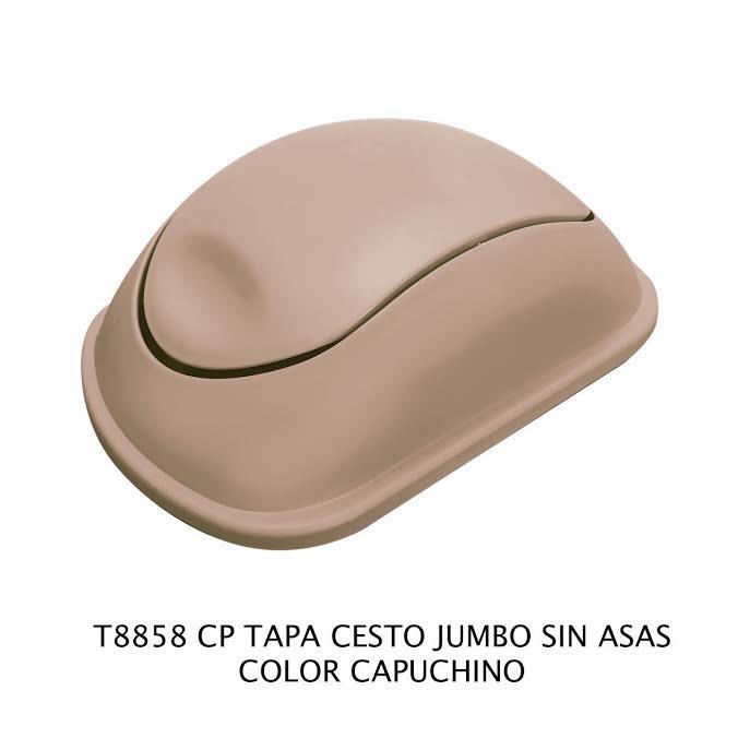 Tapa bote de basura jumbo sin asas color capuchino modelo T 8858 CP de Sablón