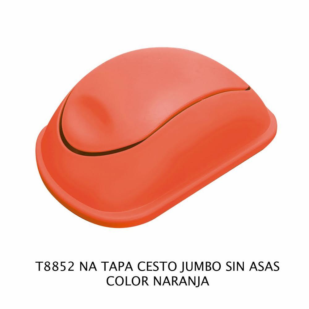 Tapa bote de basura jumbo sin asas color naranja modelo T 8852 NA de Sablón