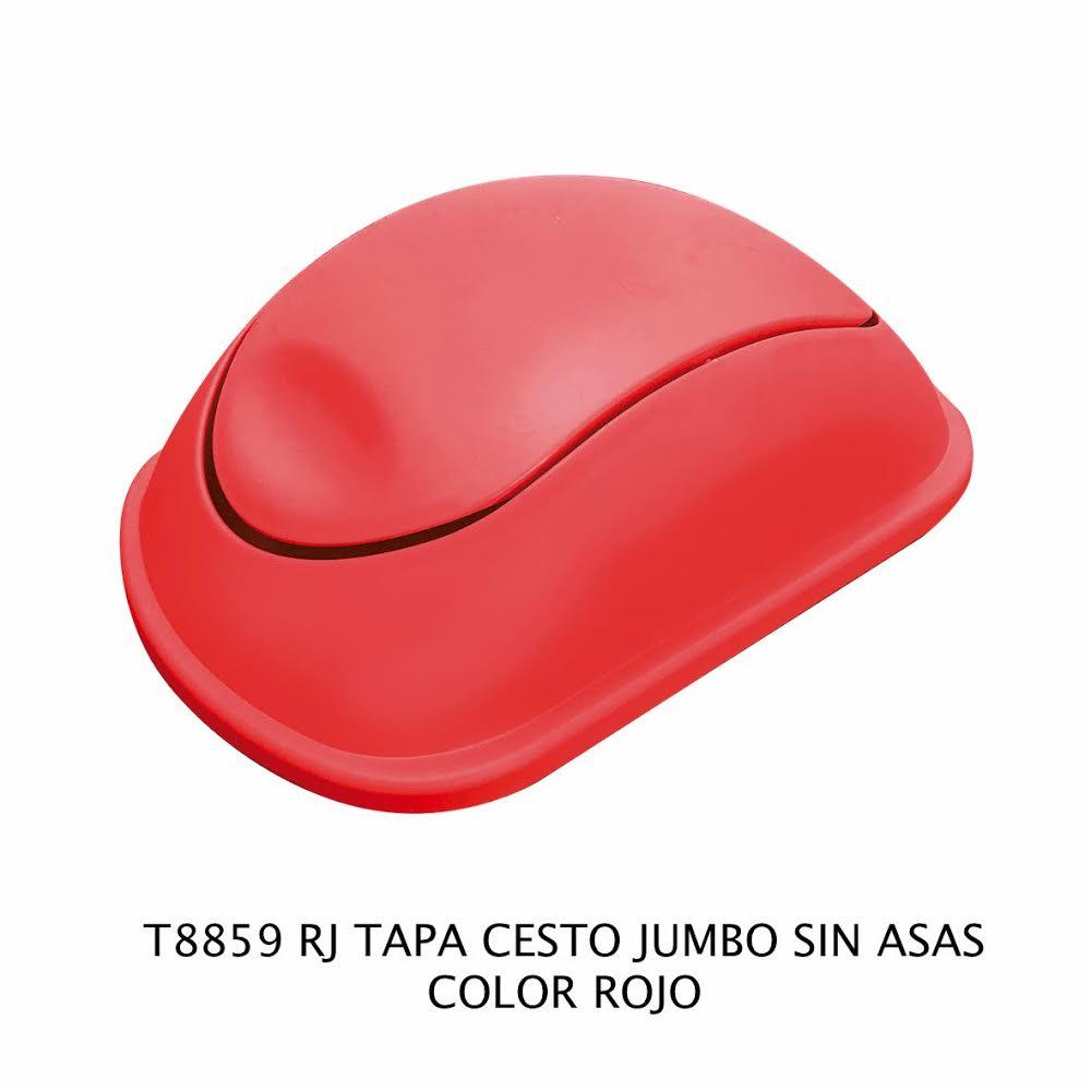 Tapa bote de basura jumbo sin asas color rojo modelo T 8859 RJ de Sablón