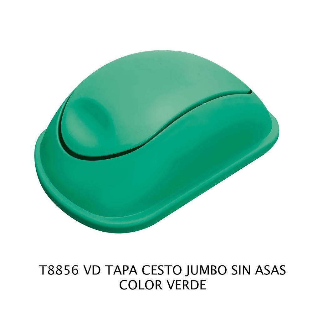 Tapa bote de basura jumbo sin asas color verde modelo T 8856 VD de Sablón