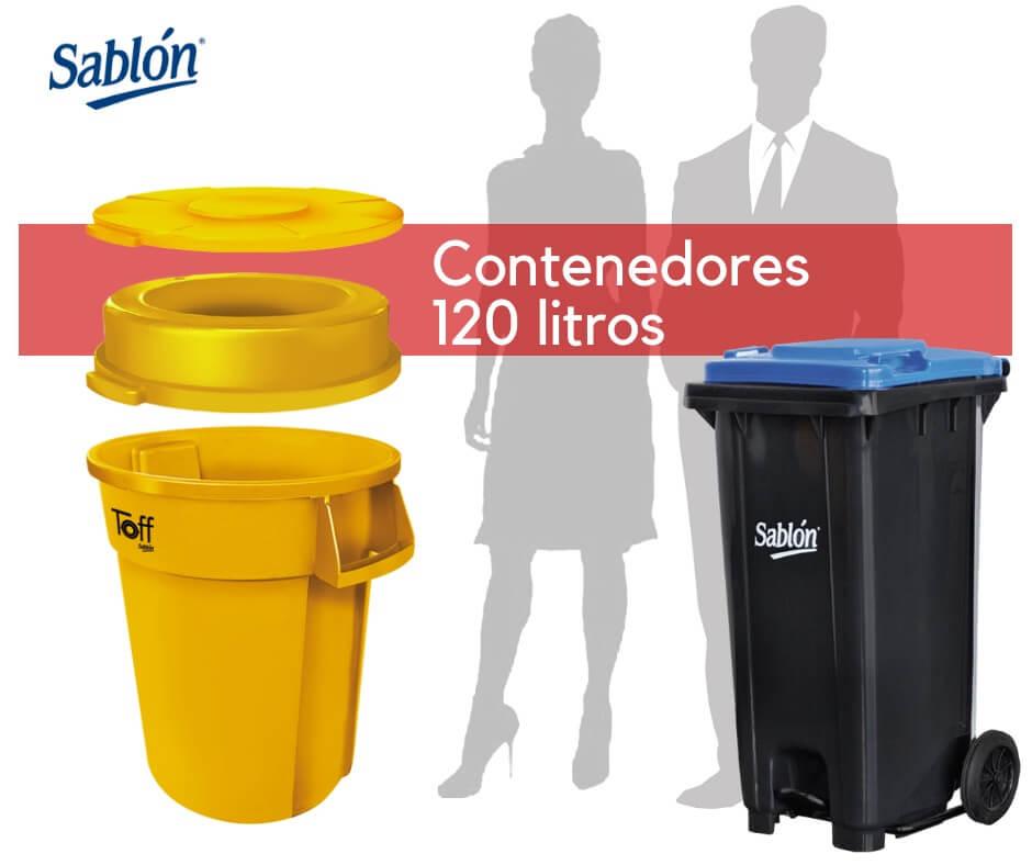 Contenedores de 120 litros de Sablón
