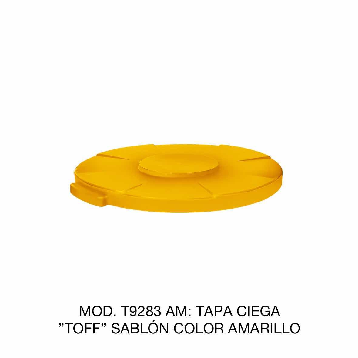 Tapa para contenedor de basura de 120 litros TOFF modelo T9283 AM color amarillo de Sablón