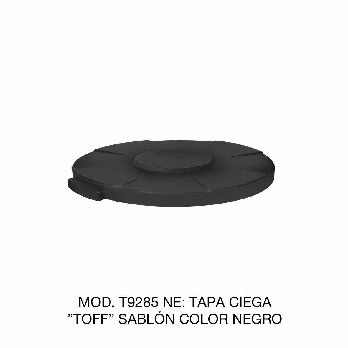 Tapa para contenedor de basura de 120 litros TOFF modelo T9285 NE color negro de Sablón