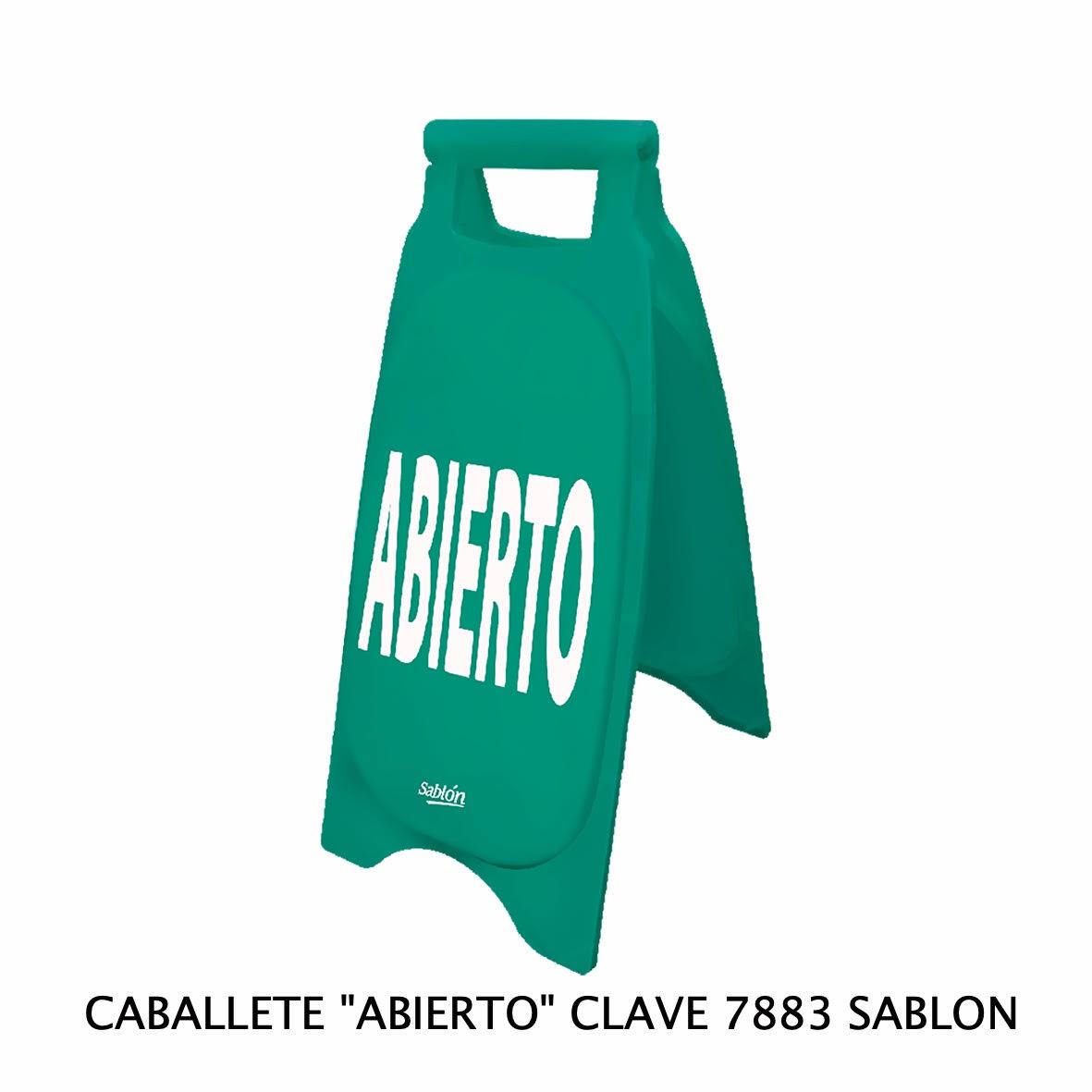Caballete con señal ABIERTO Clave 7883 de Sablón