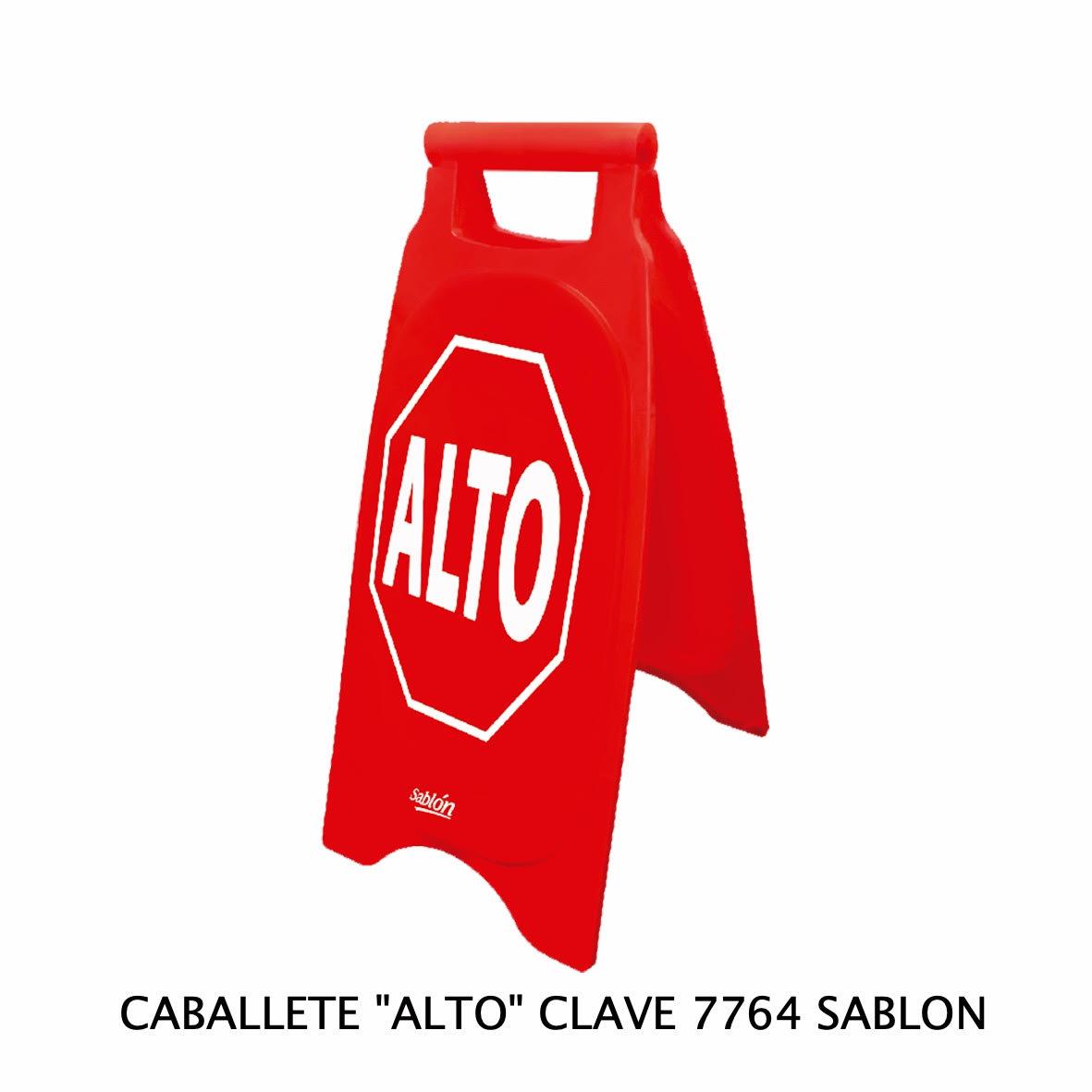 Caballete con señal ALTO Clave 7864 de Sablón
