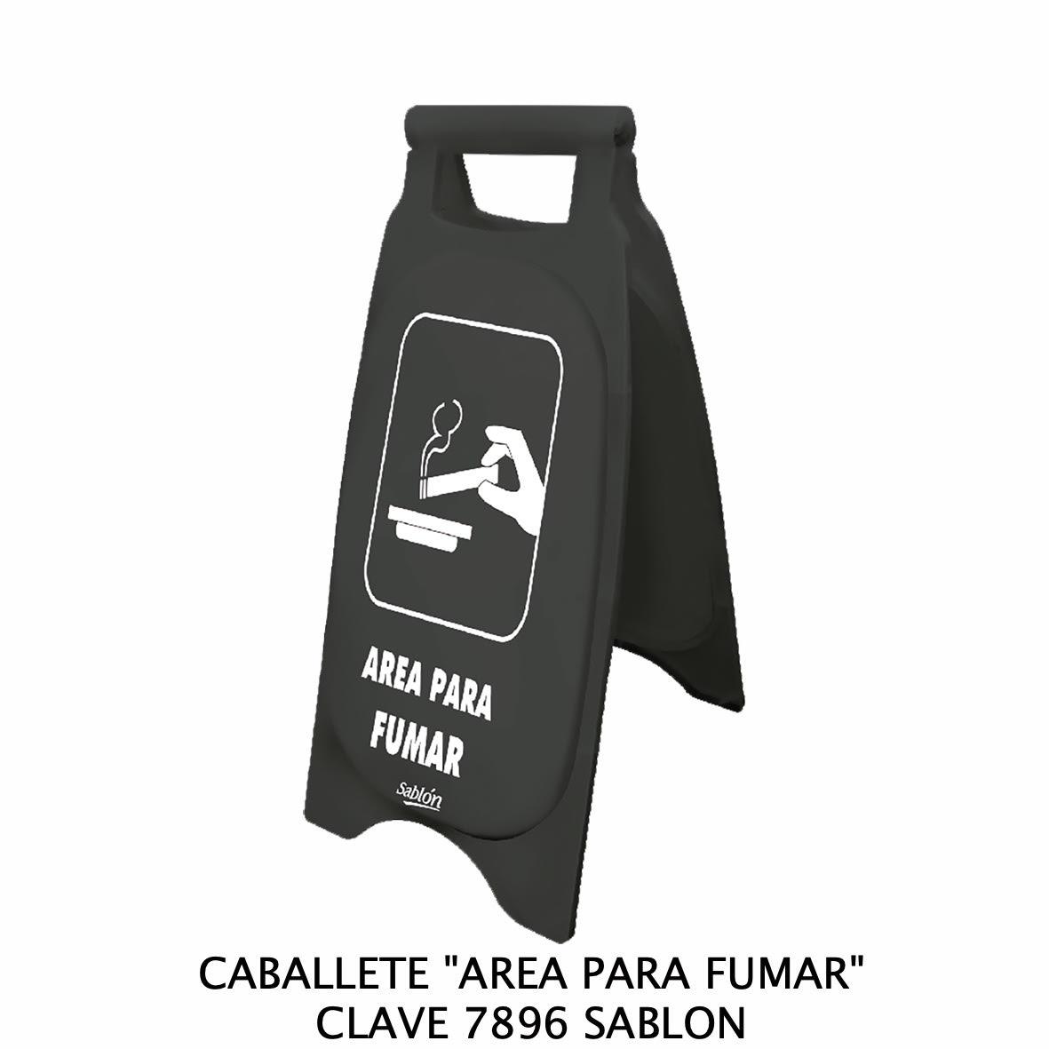 Caballete con señal ÁREA PARA FUMAR Clave 7886 de Sablón