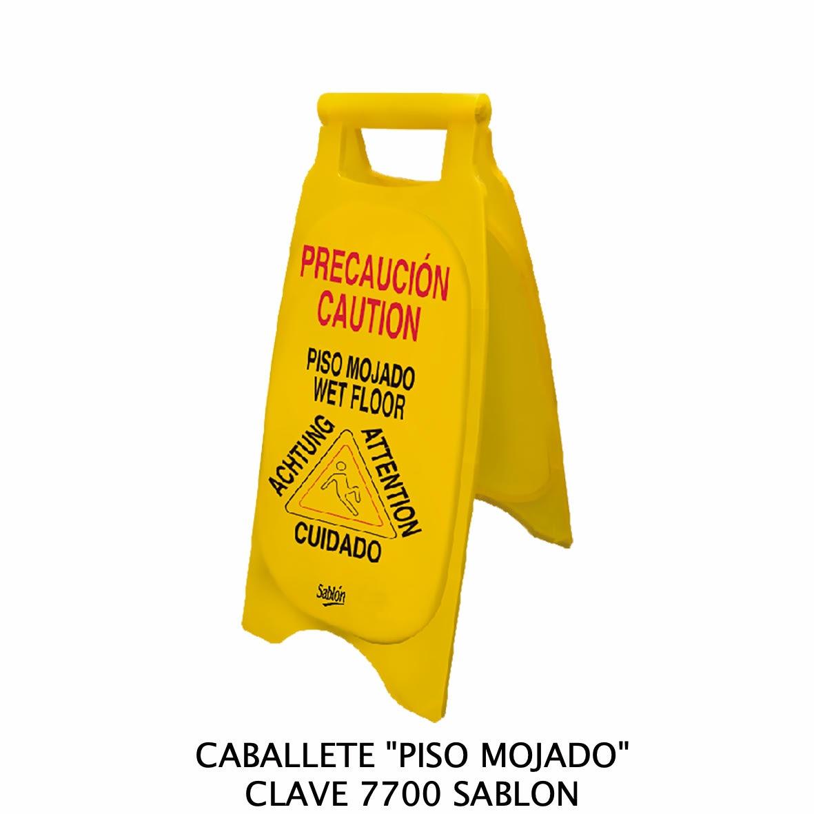 Caballete con señal PISO MOJADO Clave 7700 de Sablón