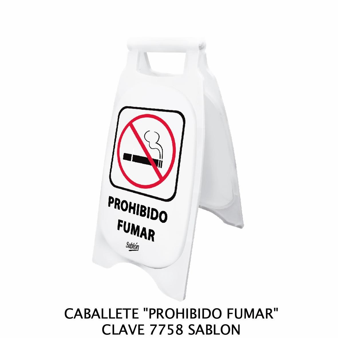 Caballete con señal PROHIBIDO FUMAR Clave 7758 de Sablón