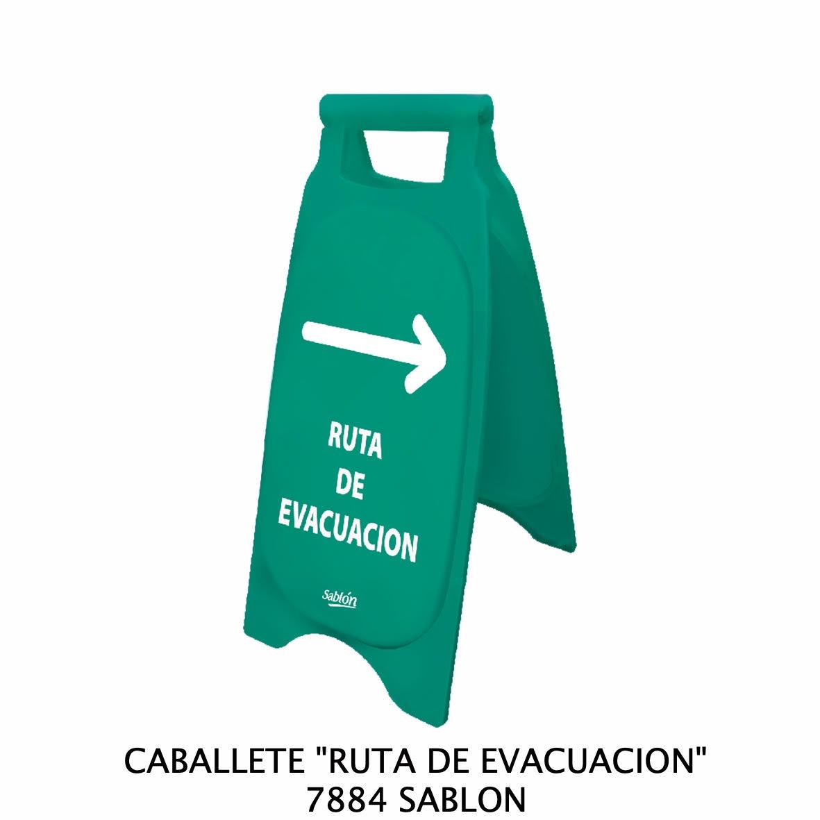 Caballete con señal RUTA DE EVACUACIÓN Clave 7884 de Sablón