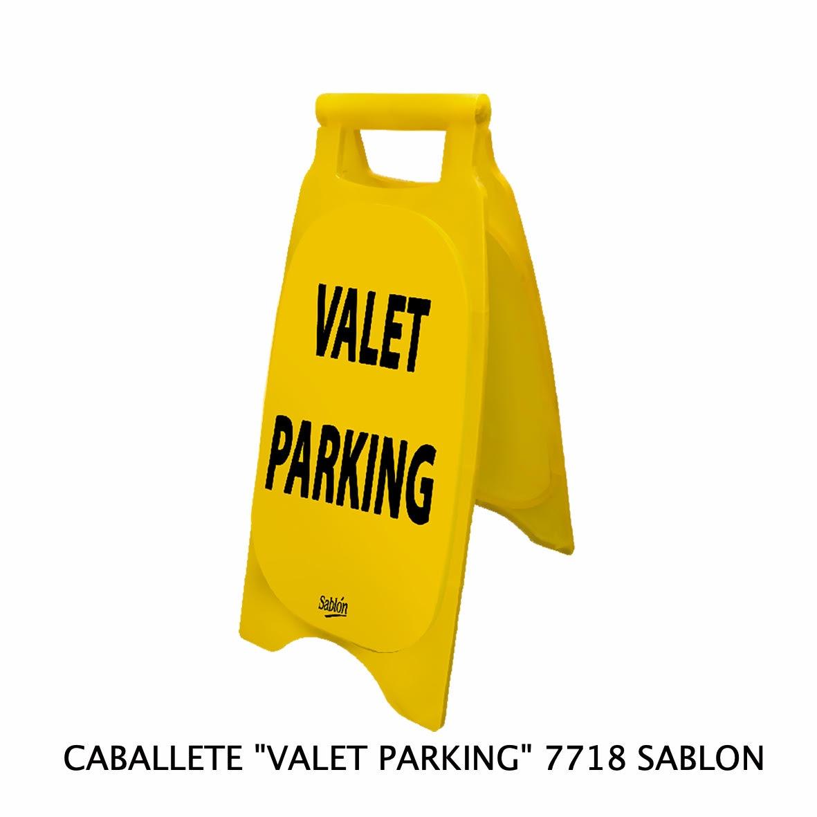 Caballete con señal VALET PARKING Clave 7718 de Sablón