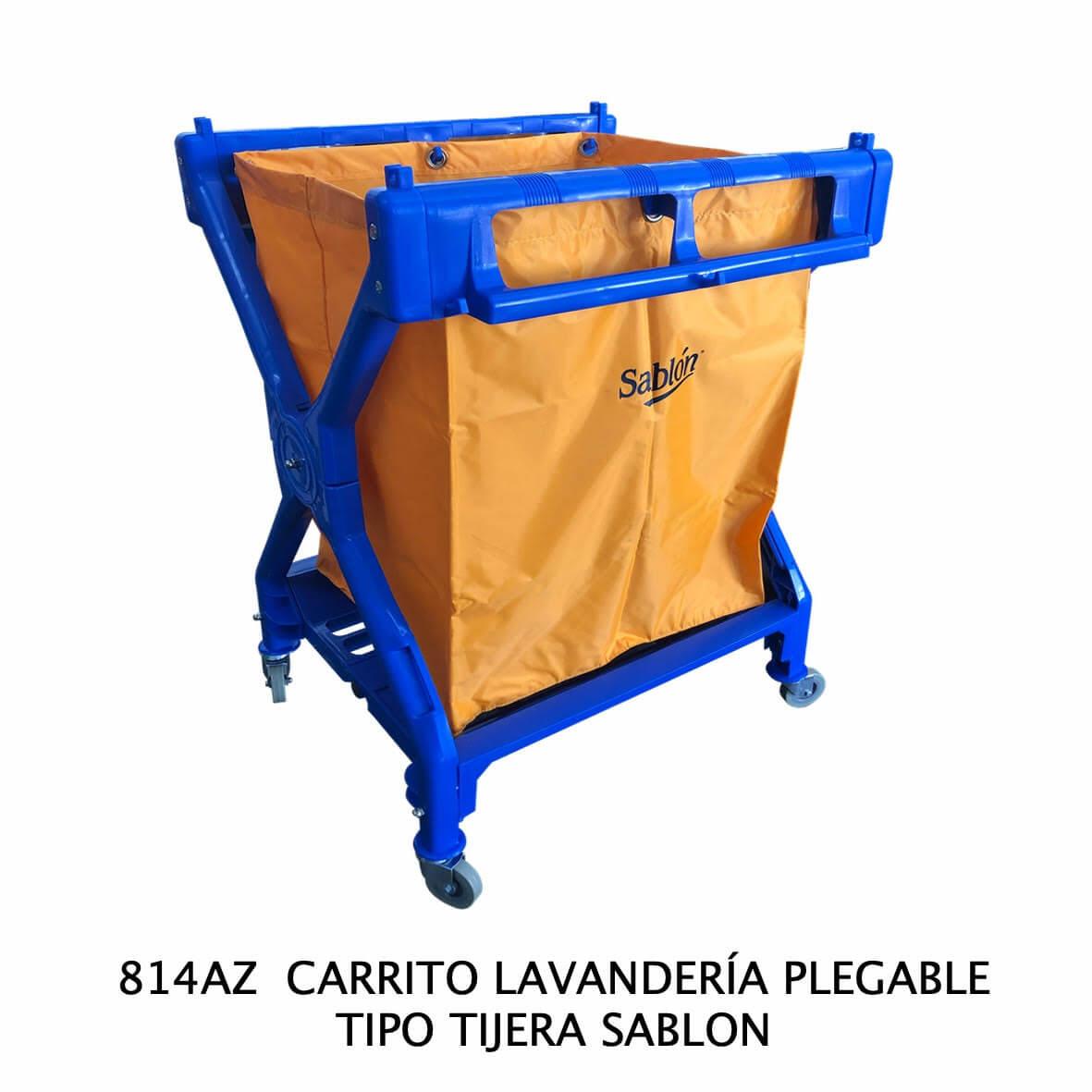 Carrito de lavandería plegable tipo tijera modelo 814 AZ Sablón