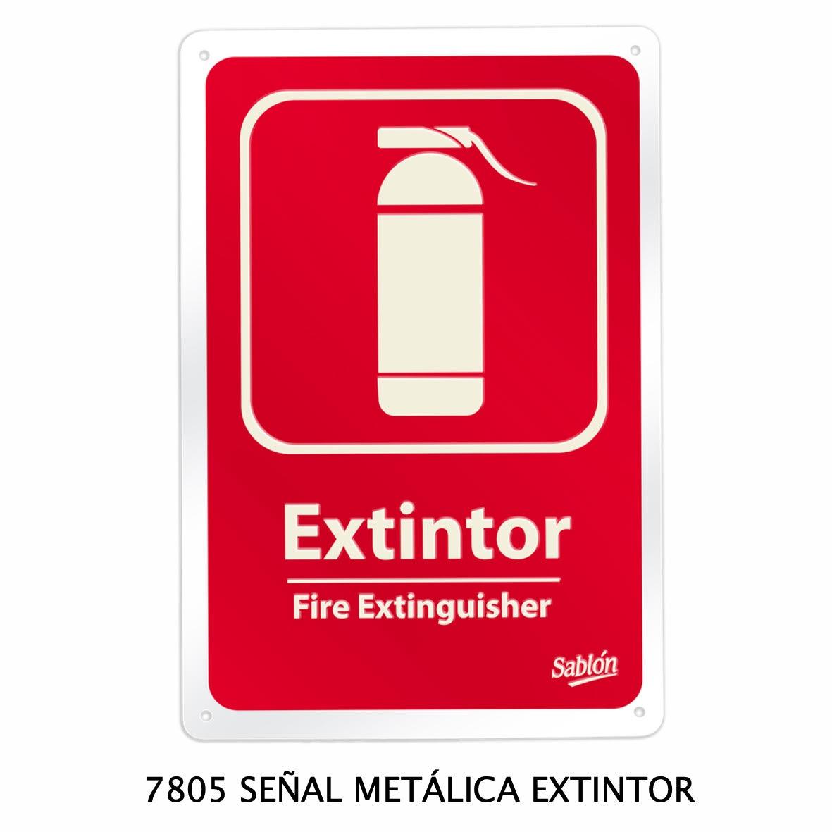 Señal metálica de extintor modelo 7805 de Sablón