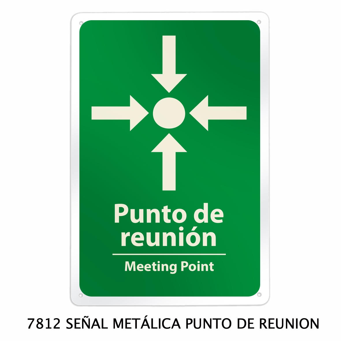 Señal metálica de punto de encuentro modelo 7812 de Sablón