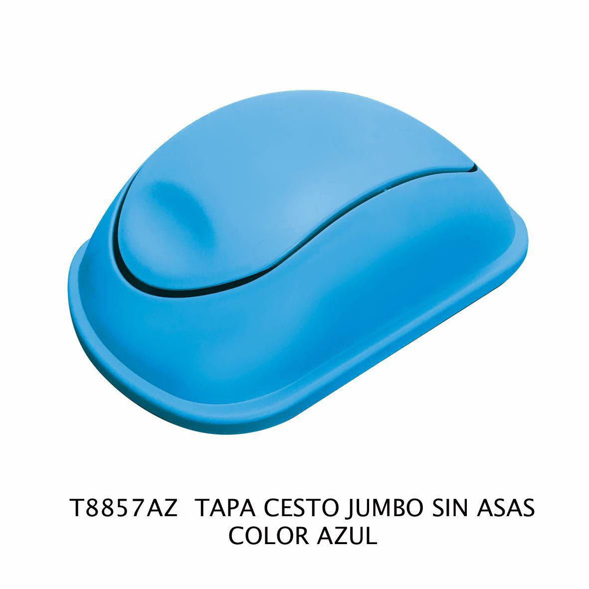 Tapa de bote de basura jumbo sin asas color azul modelo T 8857 AZ de Sablón