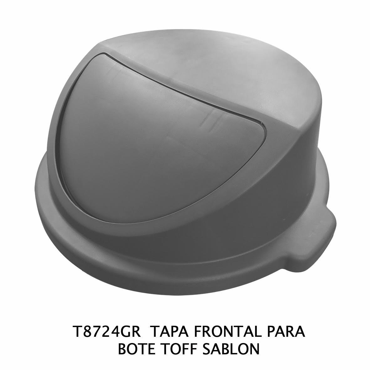 Tapa frontal para bote de basura TOFF color gris modelo T8724GR de Sablón