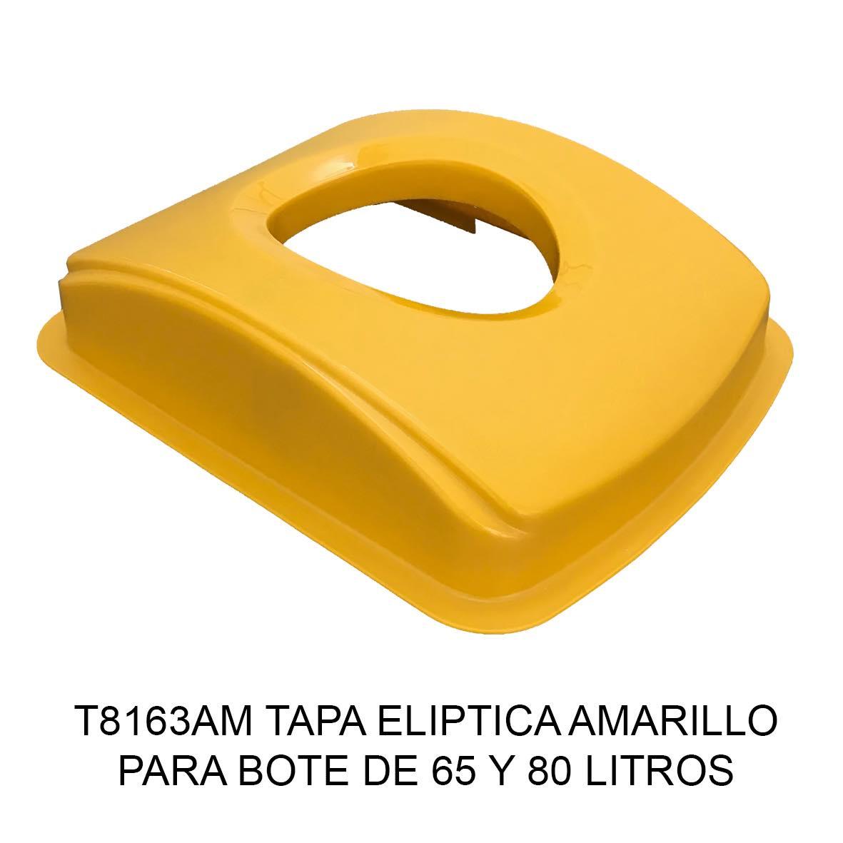 Tapa elÍptica para bote de basura color amarillo para botes de 65 y 80 litros Modelo T8163AM de Sablón