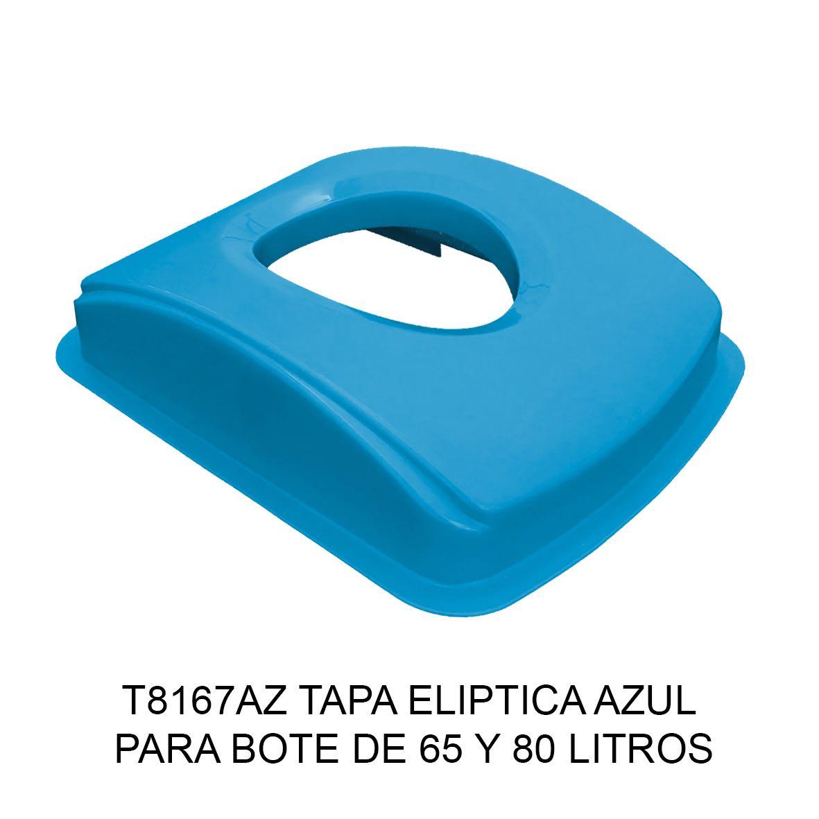 Tapa elíptica para bote de basura color azul para botes de 65 y 80 litros Modelo T8167AZ de Sablón