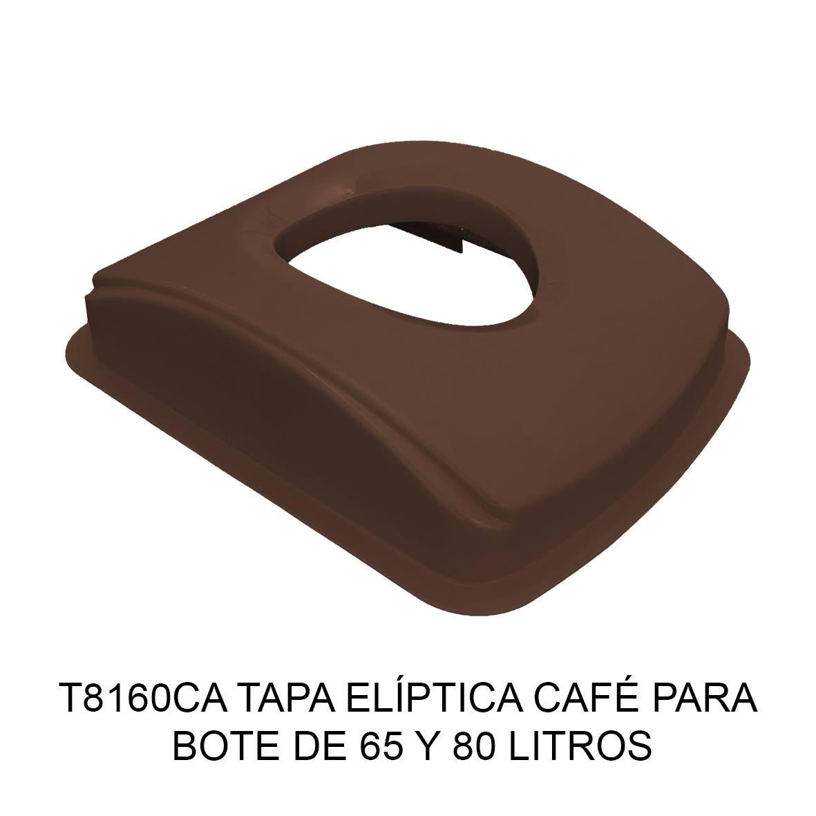Tapa elíptica para bote de basura color café para botes de 65 y 80 litros Modelo T8160CA de Sablón