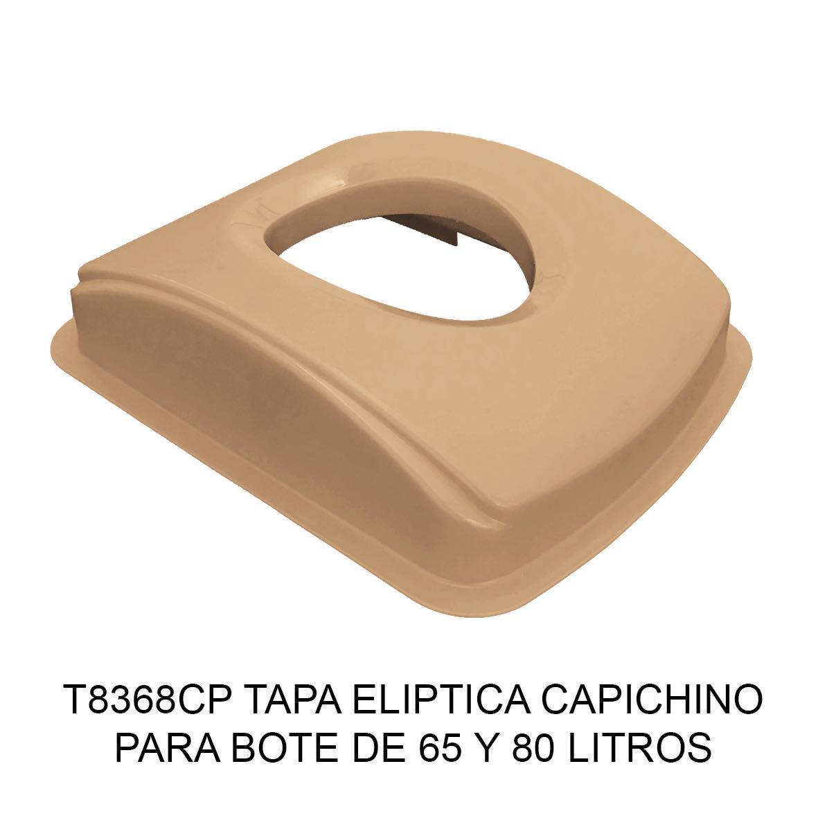 Tapa elíptica para bote de basura color capuchino para botes de 65 y 80 litros Modelo T8368CP de Sablón