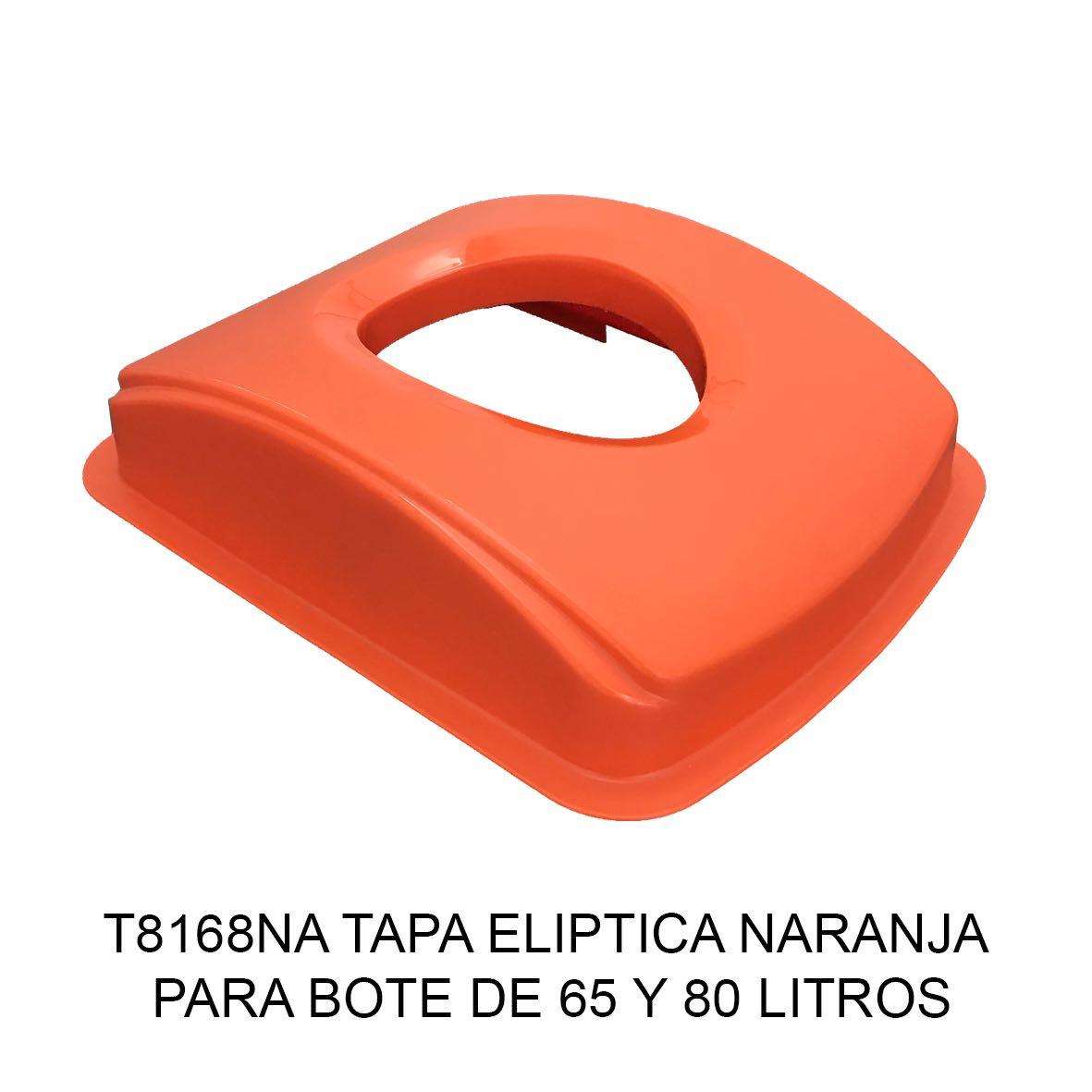Tapa elíptica para bote de basura color naranja para botes de 65 y 80 litros Modelo T8168NA de Sablón