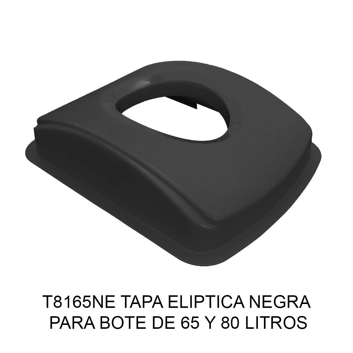 Tapa elíptica para bote de basura color negro para botes de 65 y 80 litros Modelo T8165NE de Sablón