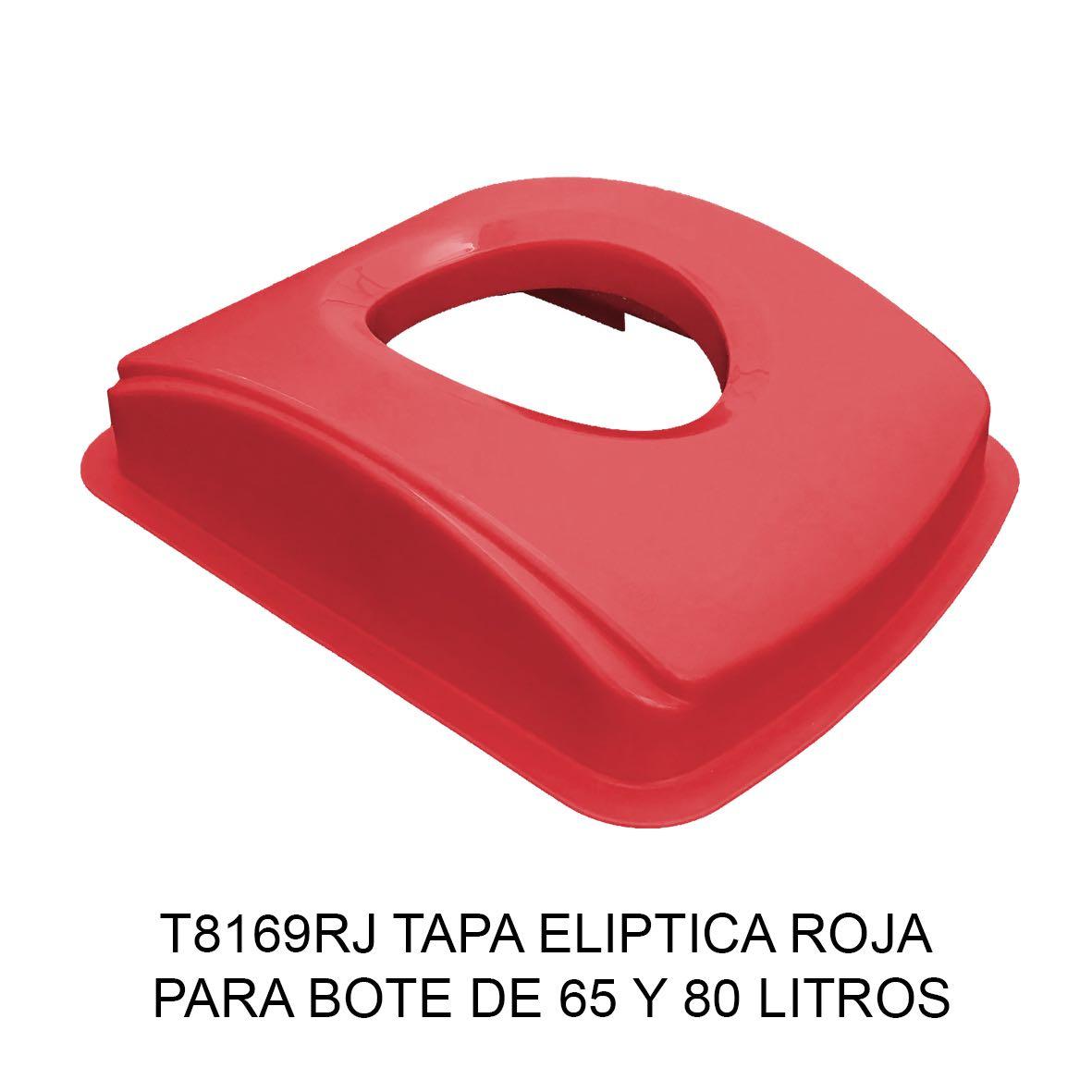 Tapa elíptica para bote de basura color rojo para botes de 65 y 80 litros Modelo T8169RJ de Sablón