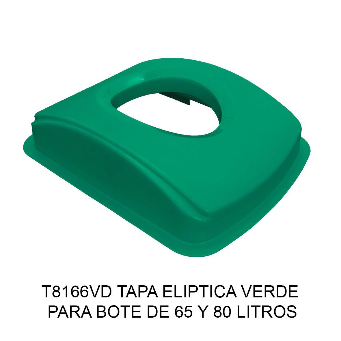 Tapa elíptica para bote de basura color verde para botes de 65 y 80 litros Modelo T8166VD de Sablón