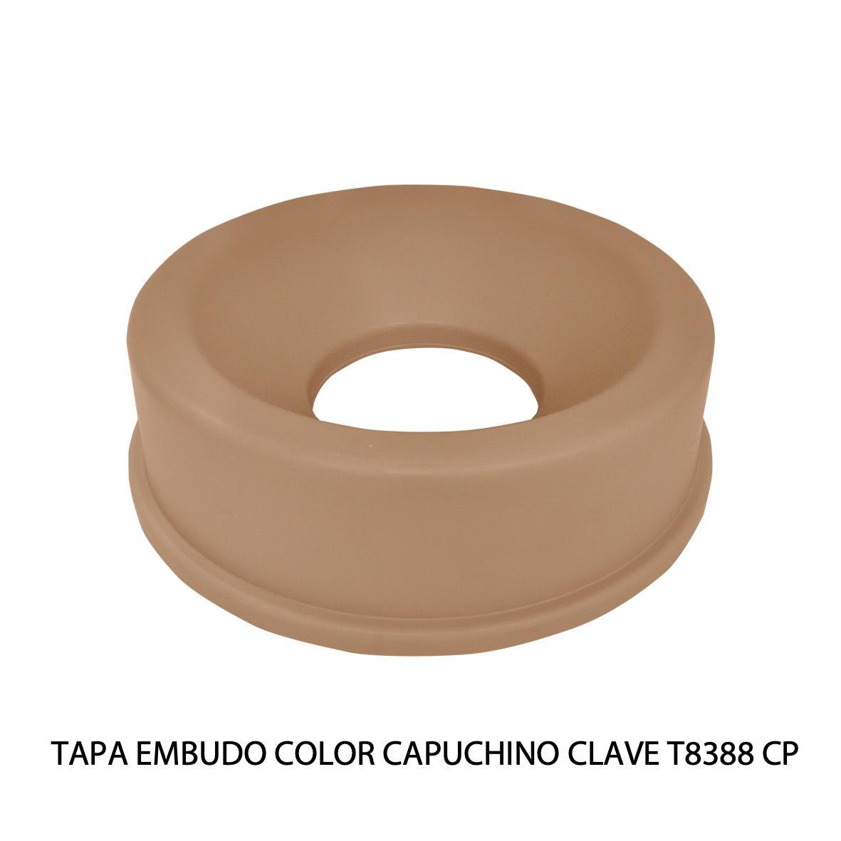 Tapa embudo color Capuchino clave T8388 CP de Sablón