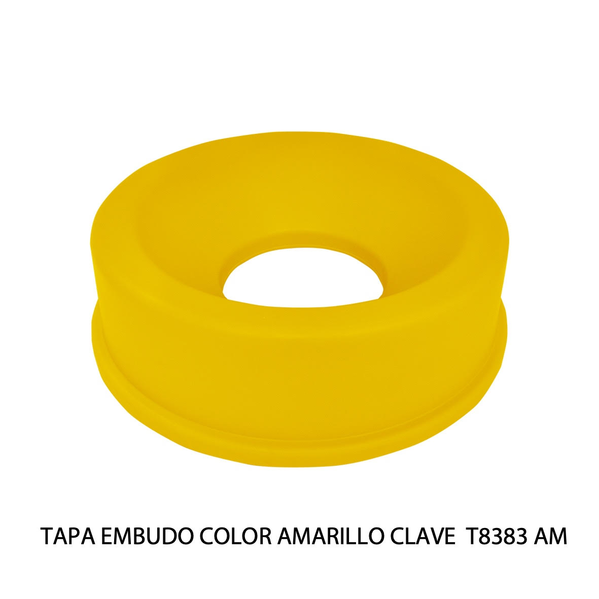 Tapa embudo color amarillo clave T8383 AM de Sablón