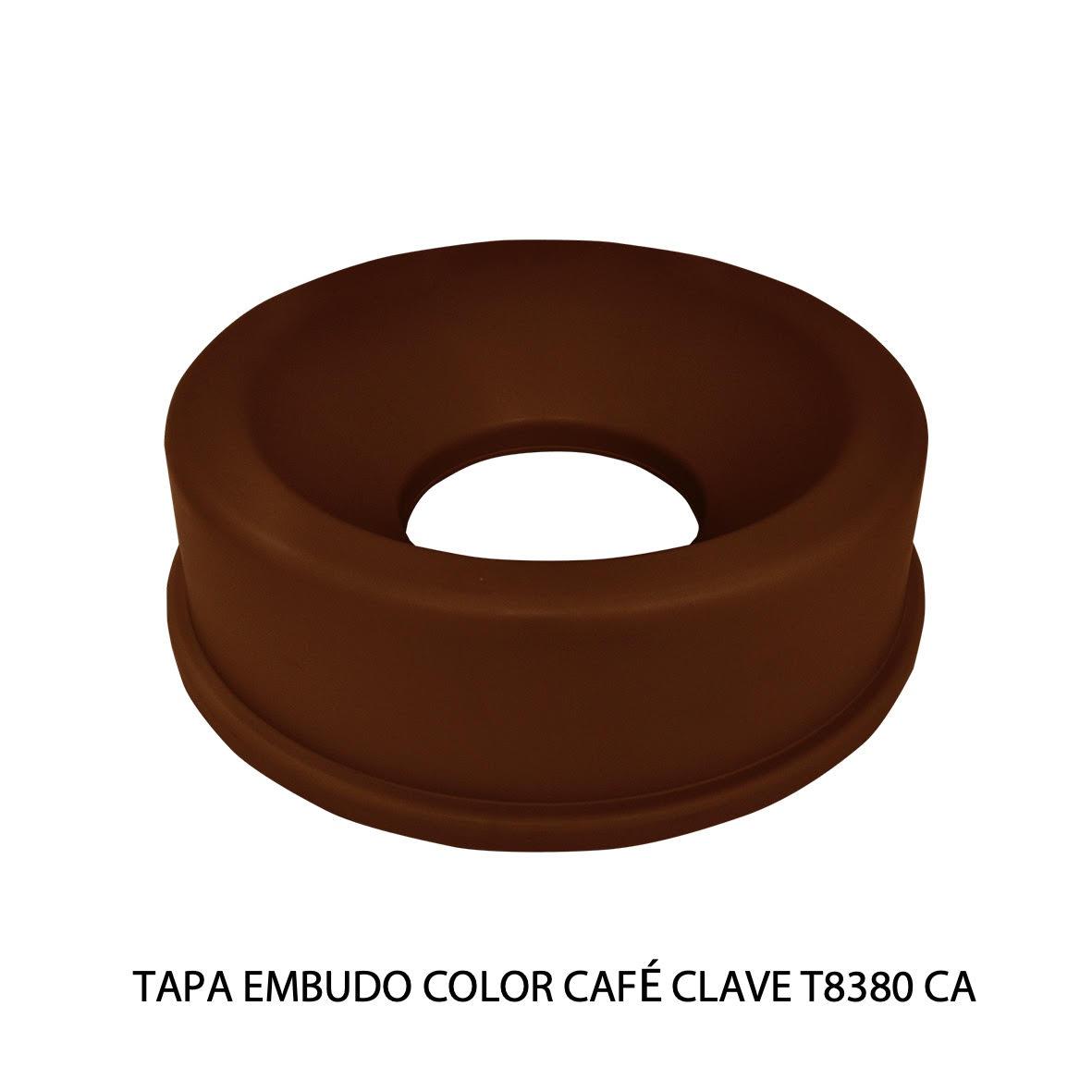 Tapa embudo color amarillo clave T8380 CA de Sablón