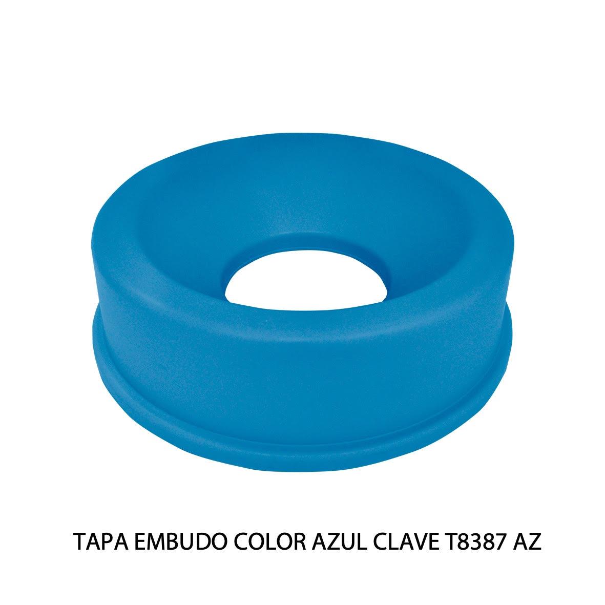 Tapa embudo color azul clave T8387 AZ de Sablón