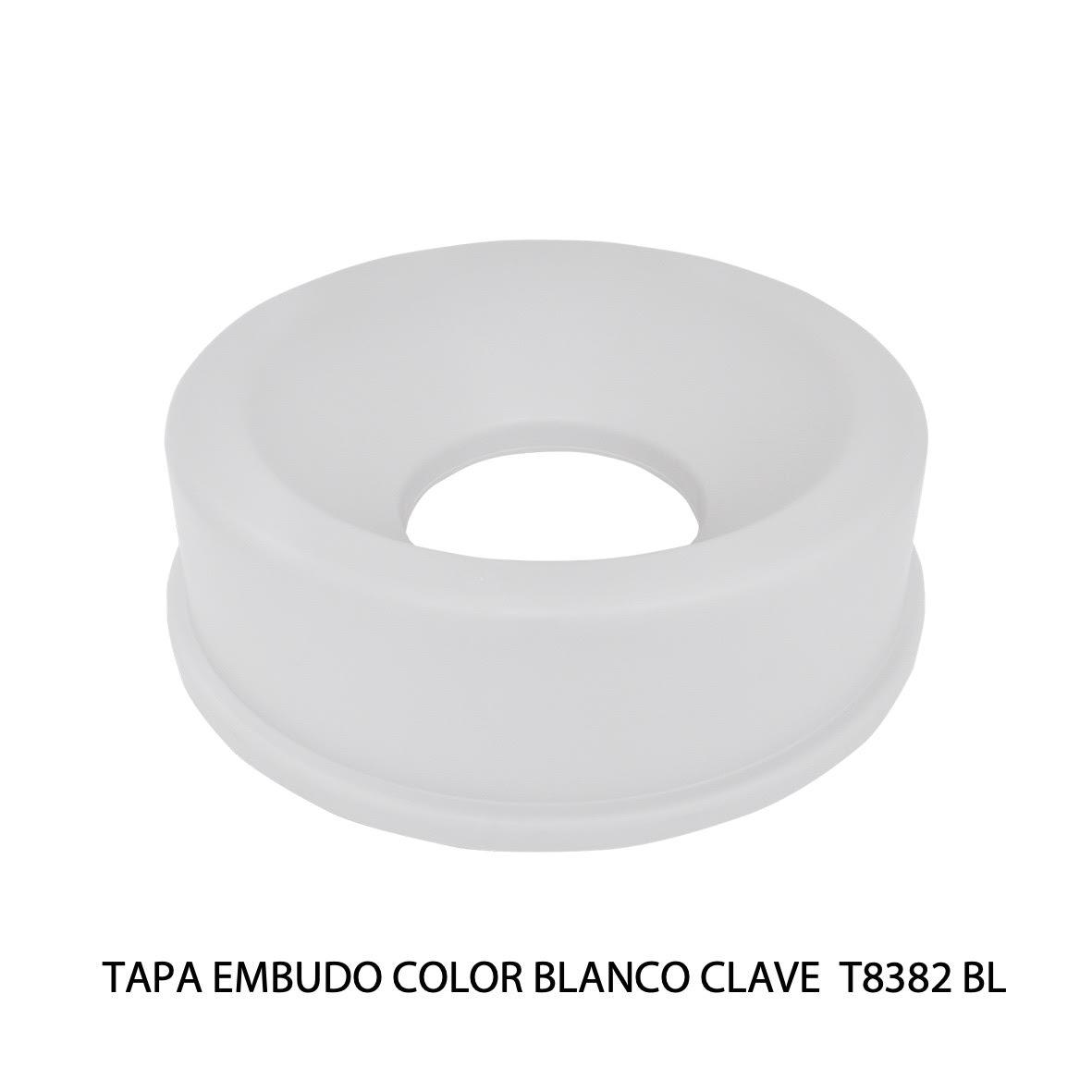 Tapa embudo color blanco clave T8382 BL de Sablón