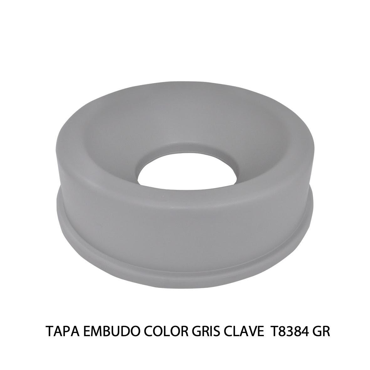 Tapa embudo color gris clave T8384 GR de Sablón