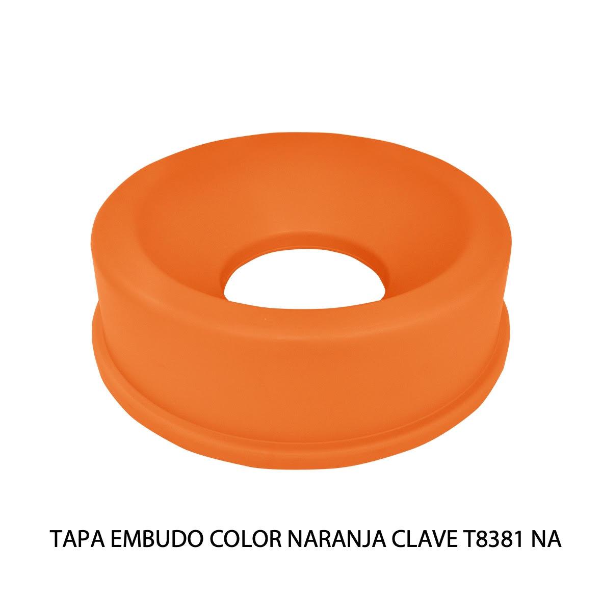 Tapa embudo color naranja clave T8381 NA de Sablón