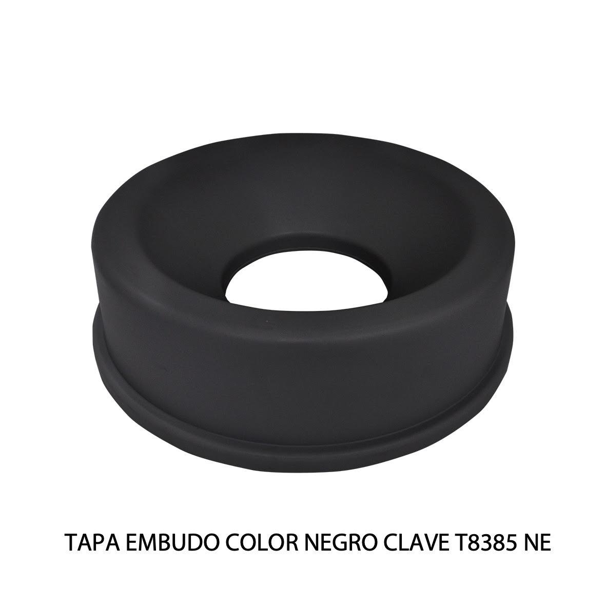 Tapa embudo color negro clave T8385 NE de Sablón