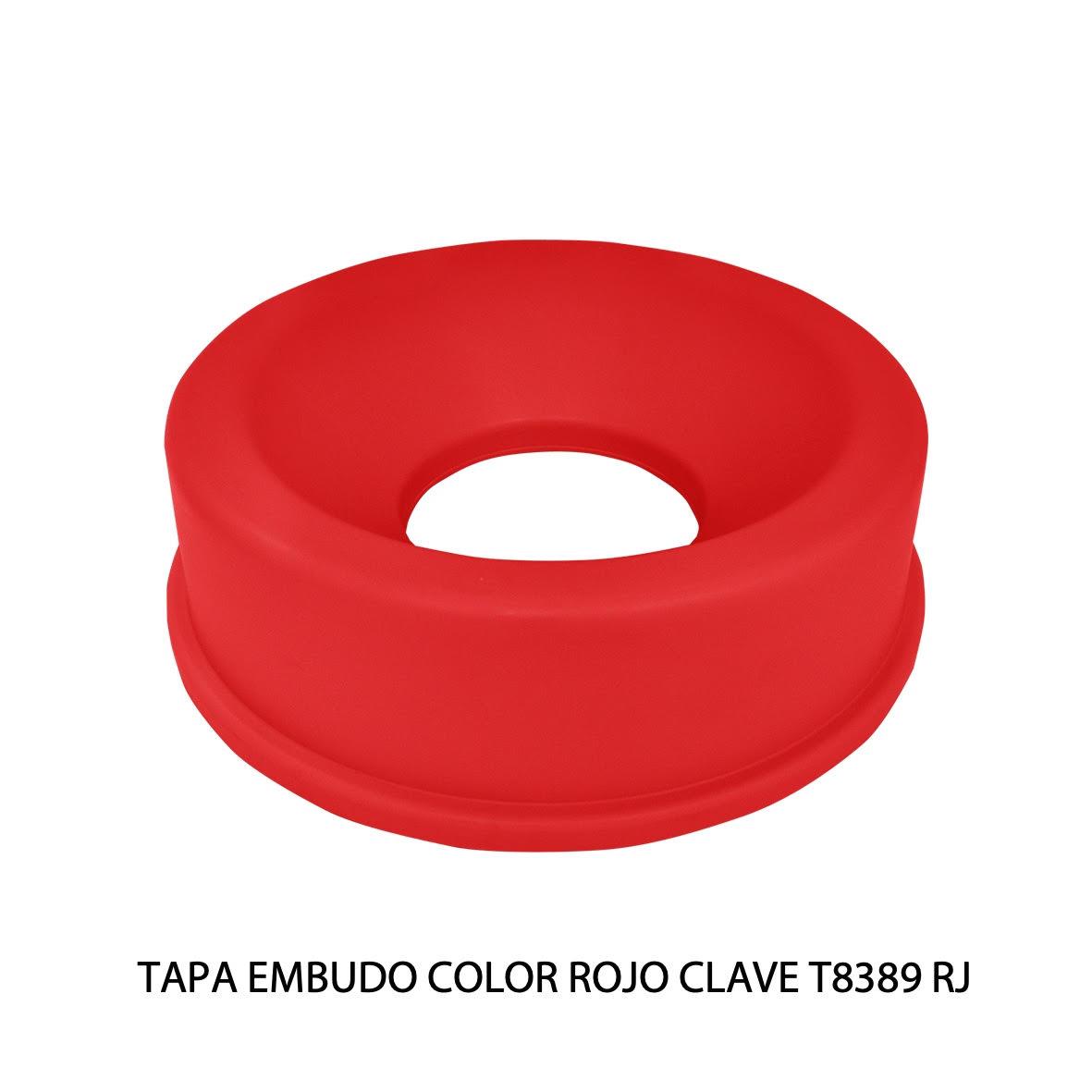 Tapa embudo color rojo clave T8389 RJ de Sablón
