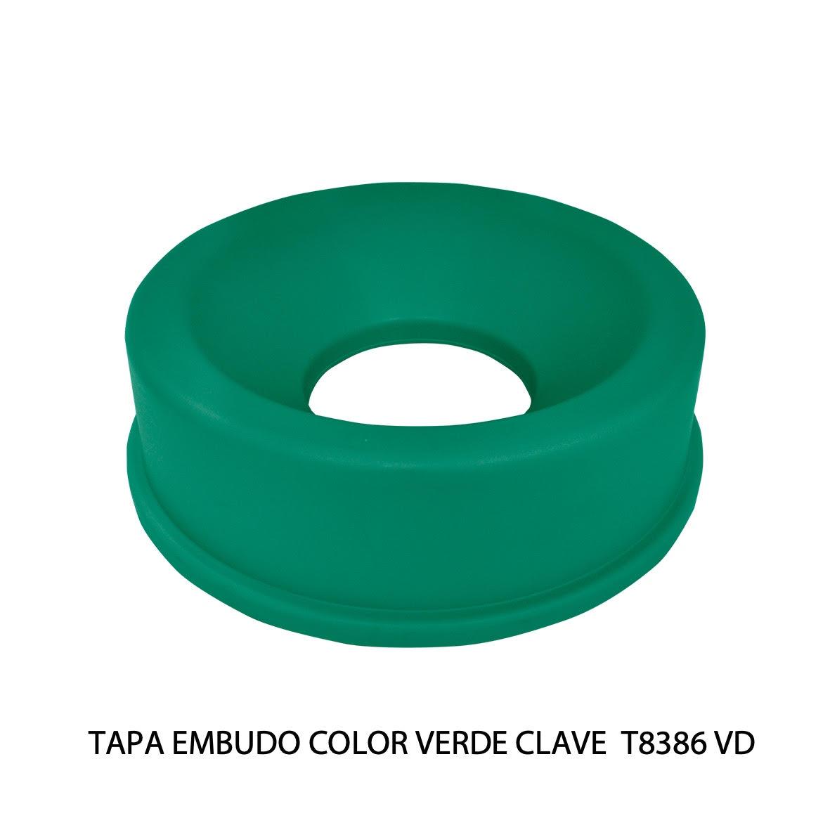 Tapa embudo color verde clave T8386 VD de Sablón