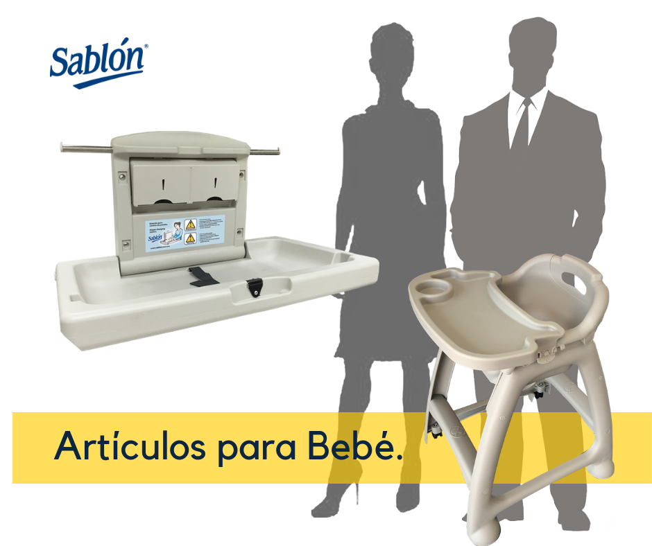 Estación de pañales y silla para bebés