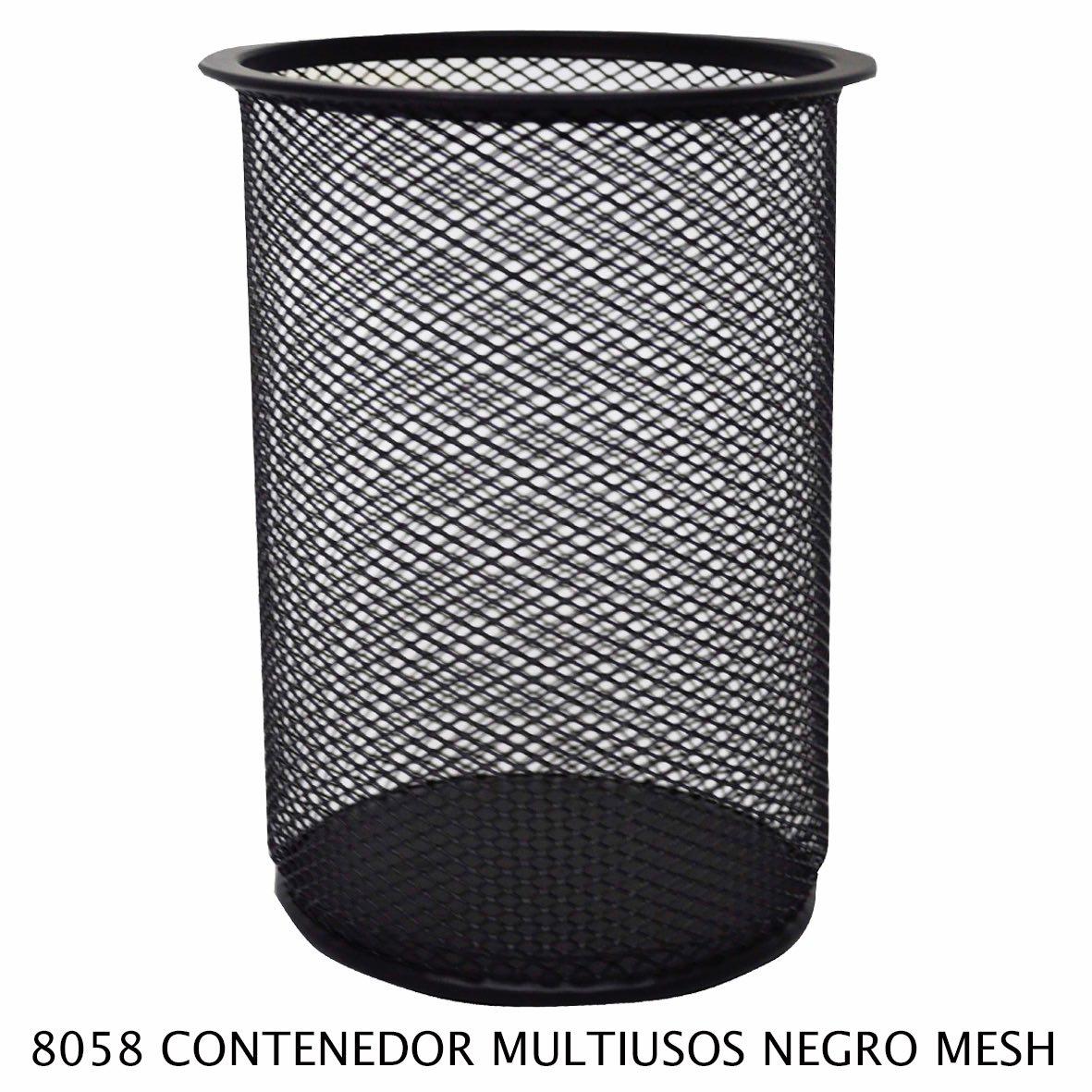 Bote de basura multiusos Negro Mesh modelo 8058 de Sablón