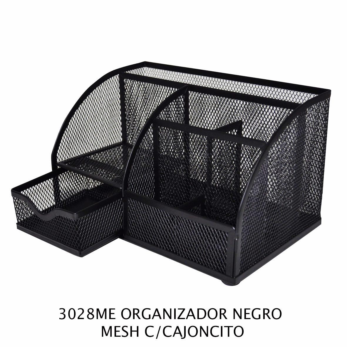Organizador Negro Mesh con cajoncito modelo 3028ME de Sablón